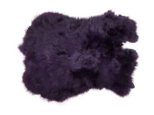 Dyed Rabbit Pelt Medium Purple Craft Grade (188-D-03) L29