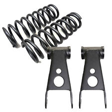 """1988-98 Chevy GMC C1500 1"""" Front Lowered Coil Springs 2"""" Drop Shackles 250510"""