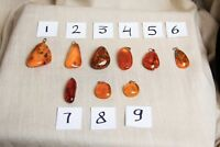 Natural Baltic Assorted Amber Pendants