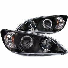 FOR 2004-2005 HONDA CIVIC PROJECTOR HALO HEADLIGHTS BLACK CLEAR PAIR LH+RH