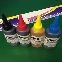 4x100ml LUBRINK Refill Ink Bottles Fits Epson EcoTank Eco Tank ET-2650 Printers
