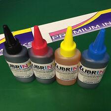 4x100ml LUBRINK Refill Ink Bottles Fits Epson EcoTank Eco Tank ET-2650 Printers