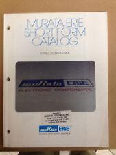 Muriata Erie Short Form Catalog No. G-01-A, Electronic Component