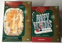 Carlton Cards Heirloom Christmas Ornaments LOT Of 2 Snow Days, A Christmas Carol