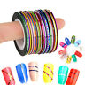 100Pc Mixed Colors Rolls Striping Tape Line DIY Nail Art Tips Decoration Sticker