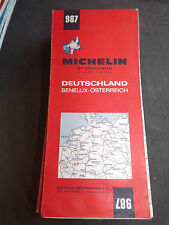 Carte michelin 987 allemagne benelux autriche rep. tcheque  1972