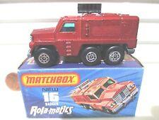 Lesney Matchbox MB16A Bronze Badger Truck Black 3 Line Base Black Antennae MIB