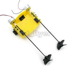 19*12cm Boat Toy Kit Propeller Motor Shaft DIY Model Hobby Learning Hand School