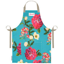 Personalised Apron Linen UK Cooking Kitchen Adult Aprons For Women Floral Glade