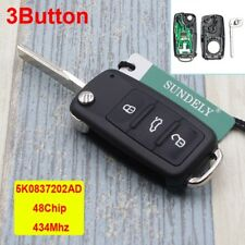 5K0837202AD 434MHz Remote Keyless Key Fob for VW/VolksWagen Beetle Caddy Tiguan