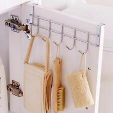 Türgarderobe 5 Haken Garderobe Tür Kleider Handtuch Halter-Leiste,#, K6B4