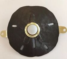 """Pewter Burnished Bronze Sand-dollar Doorbell With Lighted Button 3"""" Donna Ricci"""