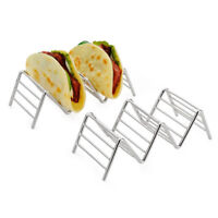 Stainless Steel Mexican Display Stand Shell Rack 1-4 Hard Wave Shape Taco Holder