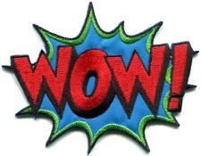 WOW! superhero comics retro fun embroidered applique iron-on patch S-1190