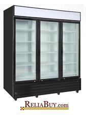 75cf Commercial 00006000  3-Door Glass Door Display Refrigerator Merchandiser Cooler New!