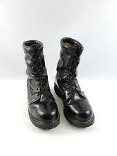 Mens Punk Biker Combat Black Motorcycle Military Gothic Boot Vintage Sz 8 R
