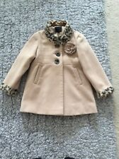 Girls Next Camel And Leopard Print Coat Age 5-6 Years