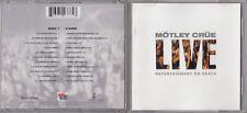 Mötley Crüe - Live: Entertainment or Death [Clean] [Reissue] (CD, Jul-2009) 2CD