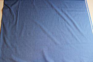 Stoffrest: 2,90 m Blusen- Hemdenstoff, blau, Breite: ca. 145 cm, Mat:  BW - PE