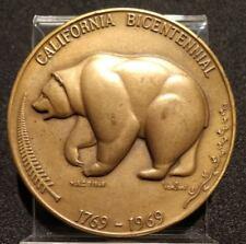 "1969 CALIFORNIA BICENTENNIAL MEDAL MEDALLIC ART CO. BRONZE 2-1/2"" INCH VAN SANT"