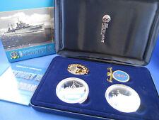 2008 HMAS SYDNEY II HSK-8 KORMORAN SILVER PROOF COIN, MEDALLION & BADGE SET