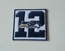 NFL PATCH RICAMATE Seattle Seahawks 12ter UOMO FAN-Patch circa 5 x 5 cm