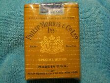 Vintage Original Philip Morris Cigarette Pack ** Empty No Tobacco **
