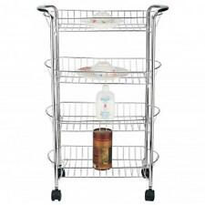 BETTER CHEF 4 Tier ROLLING*Bathroom Laundry Room Pantry*STORAGE CART*with WHEELS