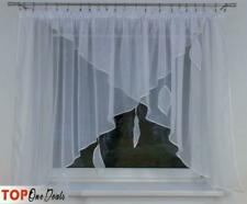 Voile Curtain With Leaves - Kitchen Blind - Cafe Net Curtains 300x140cm 8Colours
