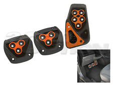 GUNMETAL ORANGE M/T CLUTCH BRAKE GAS PEDAL PADS FOR FIESTA FOCUS MUSTANG RANGER