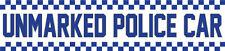 Unmarked Police Car Vinyl FUNNY STICKER 200mm JDM Car Decal drift turbo V8
