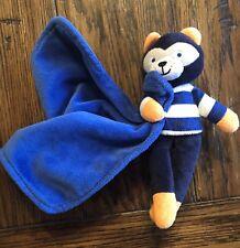 Carters Lovey Blue Stripe Shirt Orange Fox Security Blanket Nunu