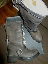 KOAH Boots Leather Vintage Brunneuve Doubled Sheep Val 199E Sizes 40