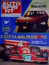 Autosprint 16 1978 Ritmo di Fiat. Nuova Branca Alfa. La Terza Capri F3SC.51