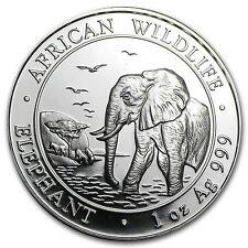 2010 1 oz Silver Somalian African Elephant