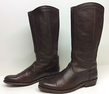 #M WOMENS FRYE RIDING  LEATHER BROWN BOOTS SIZE 6.5 B