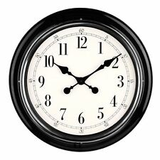 Premier Housewares Metal Wall Clock - Black