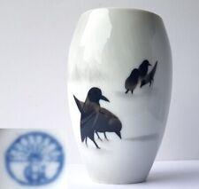 Art Nouveau Vase en Porcelaine Heubach Oiseaux Peint à la Main À 1910 AL1467
