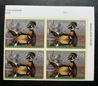 WTDstamps - #RW86 2019 Plate# Block -  Federal Duck Stamp - Mint OG NH