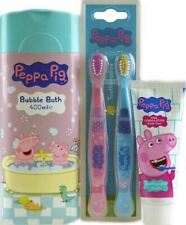 Peppa Pig Combo Bubble Bath + Toothpaste + Toothbrush BLUE/PINK New