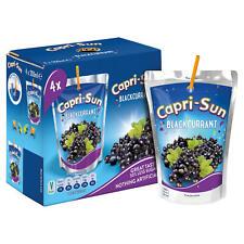 Capri-Sun Cassis Sachets (4 x 200 ml). convient aux végétariens/végétaliens.