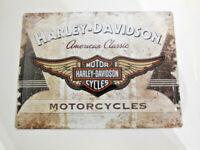 Harley Davidson Blechschild Schild Wand American Classic 30x40 3D 10014899MP