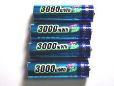 4 Battery Rechargeable 1.5V AA Lithium ion Li-ion 3000Mwh Kentli PH5 R6 R06 LR06