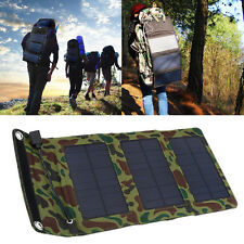 Portable Foldable Solar Panel Power Charger For Cell Phone Mobile Power Bank SD