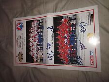1995 AHL ALL STAR GAME TEAM PHOTOS AUTOGRAPHED BY 6 PLAYERS-RARE