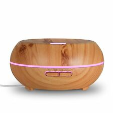 200ML Aroma Essential Oil Diffuser Mist Humidifier Colour Ultrasonic Wood Grain