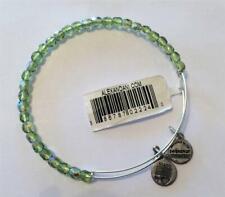Silver Bangle Bracelet Nwt Rtls $38 Rare! Alex And Ani Rock Candy Beaded Moss