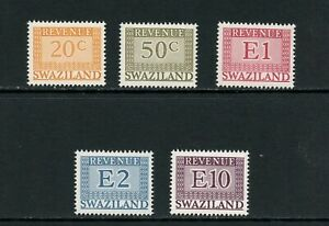 U358 Swaziland 1977 Revenues 5v. MNH