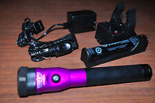Streamlight Stinger DS LED Rechargeable Flashlight AC/DC,PiggyBack-Purple 75978