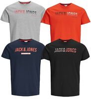 Jack & Jones Core Sporty Gym T-shirt Mens Crew Neck Linn Logo Print Cotton Tee